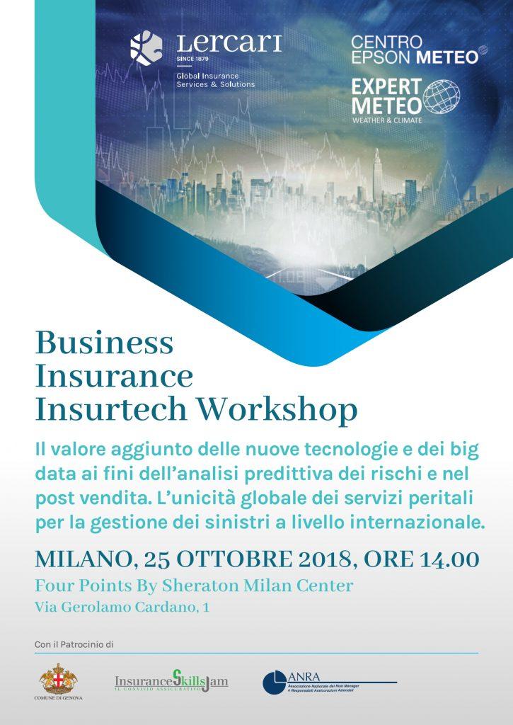 "Gruppo Lercari & Centro EPSON Meteo: "" Business Insurance Insurtech Workshop"""